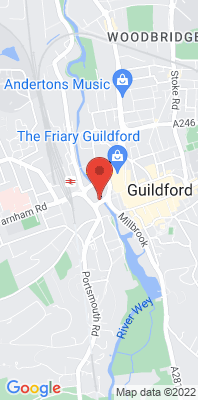 Map showing the location of the Guildford Gyratory [Closed] monitoring site