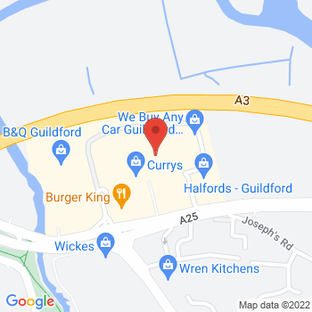 Homebase Guildford Location on map
