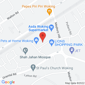 Halfords Woking Location on map