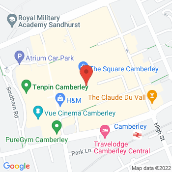 Halfords Camberley Location on map