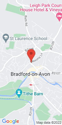 Map showing the location of the Bradford-on-Avon, Masons Lane monitoring site