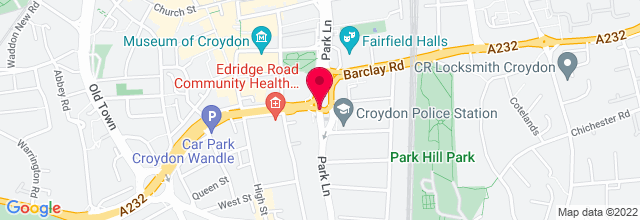 Map for Fairfield Halls