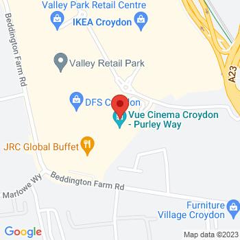 B&Q Warehouse Croydon Location on map