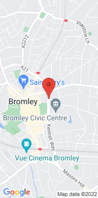 Map showing the location of the London Bromley [Closed] monitoring site