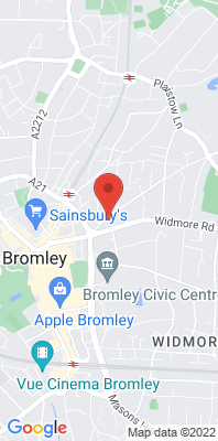 Map showing the location of the Bromley Roadside [Closed] monitoring site