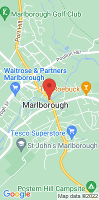 Map showing the location of the Marlborough London Road 2 monitoring site