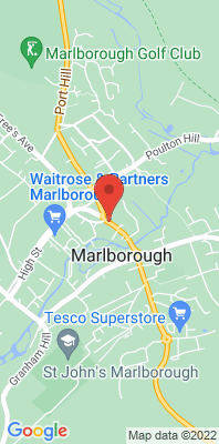 Map showing the location of the Marlborough London Road [Closed] monitoring site