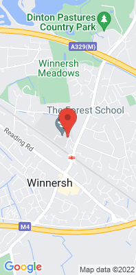 Map showing the location of the Wokingham Winnersh [Closed] monitoring site