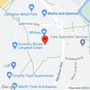 B&Q Warehouse Longwell Green Location on map