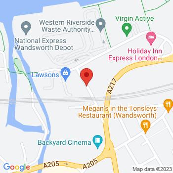 B&Q Mini Warehouse Wandsworth Location on map