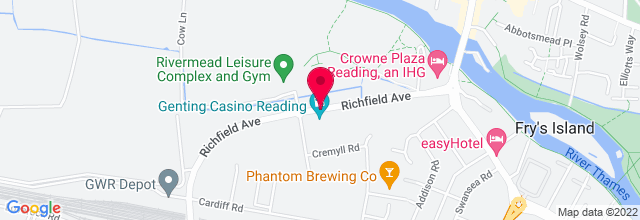 Map for Rivermead Leisure Complex