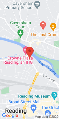 Map showing the location of the Reading Caversham Road monitoring site
