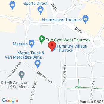 B&Q Warehouse Grays Location on map