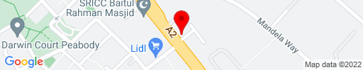 Map of Domino's Pizza