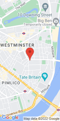 Map showing the location of the London Westminster monitoring site