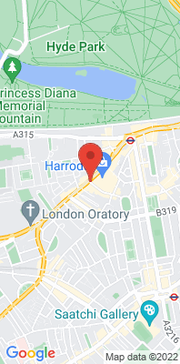 Map showing the location of the RBKC Knightsbridge monitoring site
