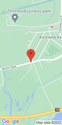 Map showing the location of the Iver North Park Road monitoring site