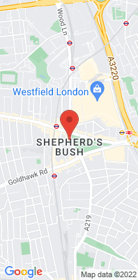 Map showing the location of the H&F Shepherd's Bush monitoring site