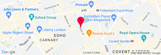 Map for Soho Theatre