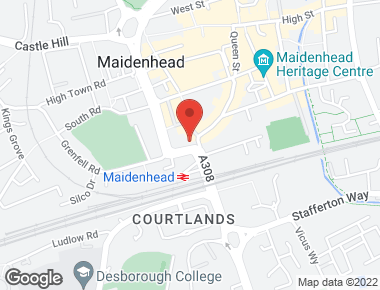Map depicting location of Hutchison 3G UK Limited office in Maidenhead