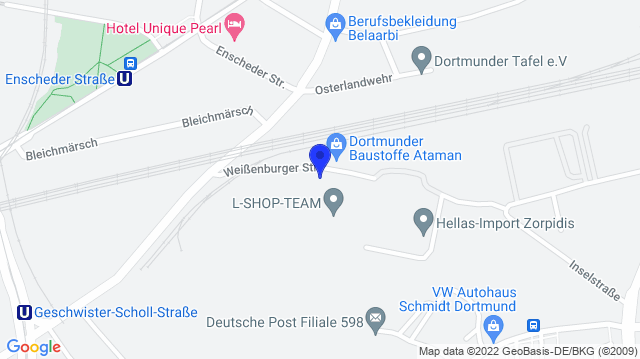 Google Map of 51.5200567,7.4810194