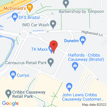 Halfords Cribbs Causeway Location on map
