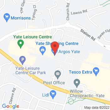 Halfords Yate Location on map