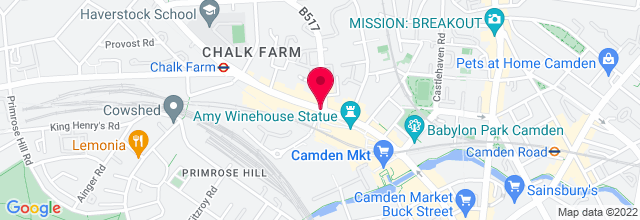 Map for Proud Camden