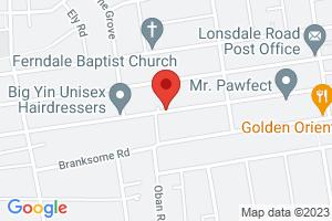 Map of South Avenue, Southend-on-Sea