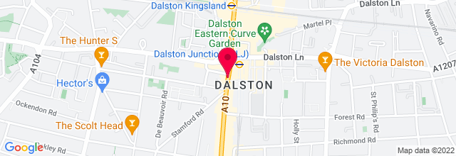 Map for Oxfam Dalston