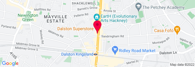 Map for Dalston Superstore