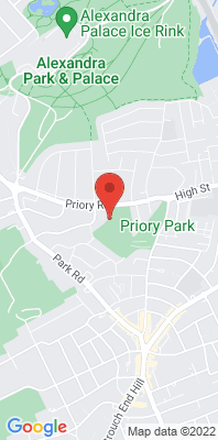 Map showing the location of the London Haringey [Closed] monitoring site