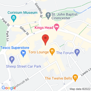 Halfords Cirencester Location on map