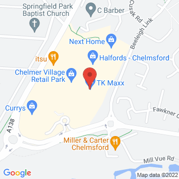 Halfords Chelmsford Location on map