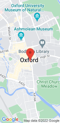Map showing the location of the Oxford Centre Roadside monitoring site