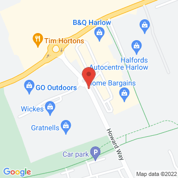 Halfords Harlow Location on map