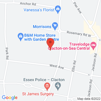 Halfords Clacton Location on map
