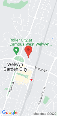 Map showing the location of the Welwyn Hatfield Council Offices [Closed] monitoring site