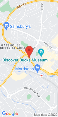 Map showing the location of the Aylesbury Friarage Road 2 [Closed] monitoring site