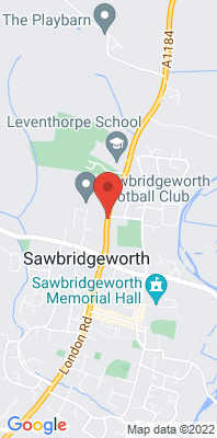 Map showing the location of the East Herts Sawbridgeworth Roadside [Closed] monitoring site
