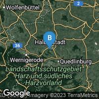 Lagekarte von Halberstadt