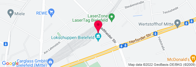 Map for Ringlokschuppen Bielefeld