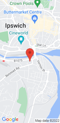 Map showing the location of the Ipswich Piper's Court [Closed] monitoring site