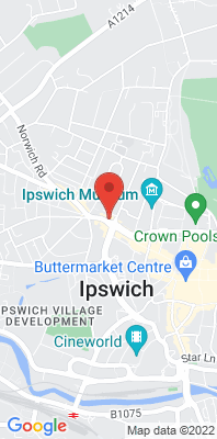 Map showing the location of the Ipswich St Matthews Street monitoring site