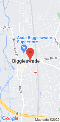 Map showing the location of the Mid Beds Biggleswade [Closed] monitoring site