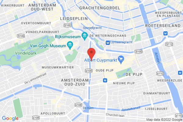 Located next to the main Amsterdam museums
