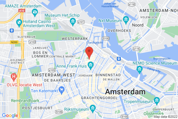 Central Jordaan location