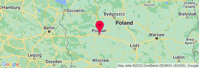 Map of Poznan, Poland