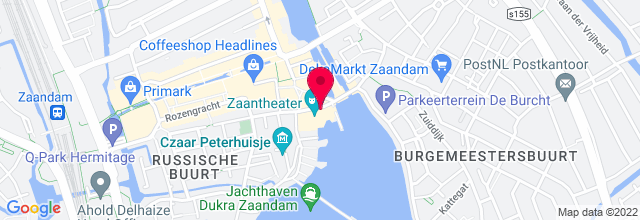 Map for Zaantheater