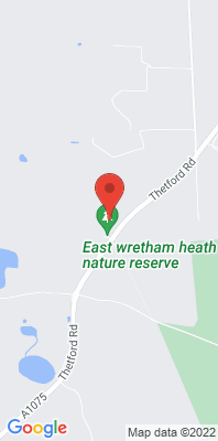 Map showing the location of the Breckland East Wretham monitoring site